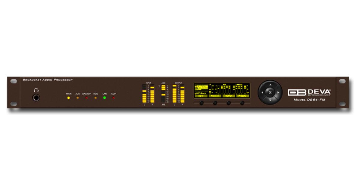 DEVA Broadcast - Products - Audio Processors - DB64-FM