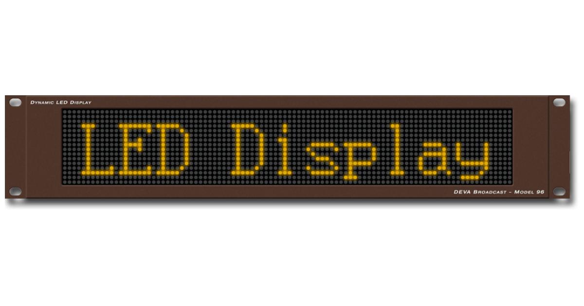 DEVA Broadcast - Products - Broadcast Tools - LED Display