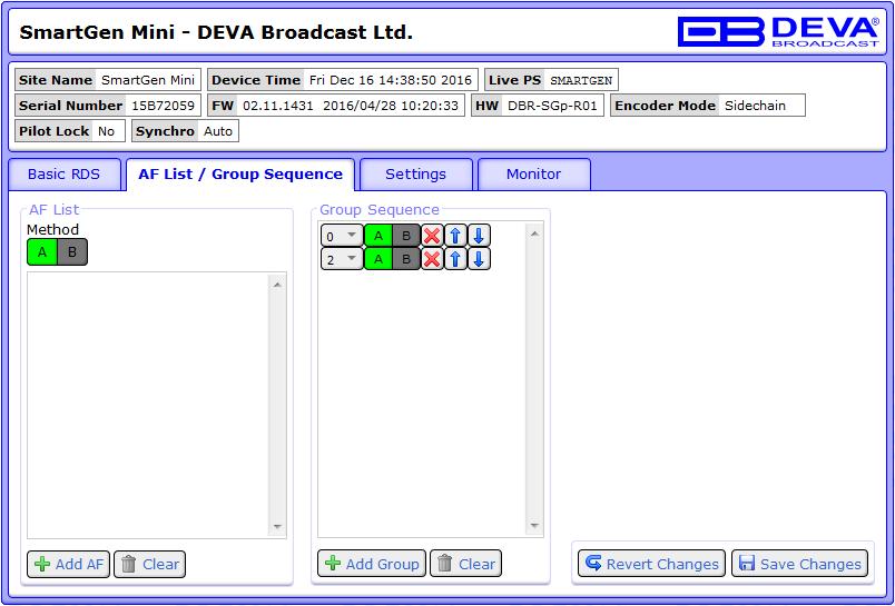 DEVA Broadcast - Products - RDS Encoders - SmartGen Mini