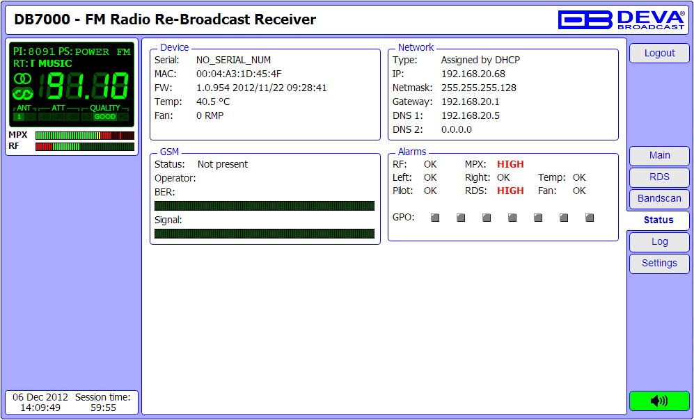 DEVA Broadcast - Products - FM Radio Monitoring - DB7000