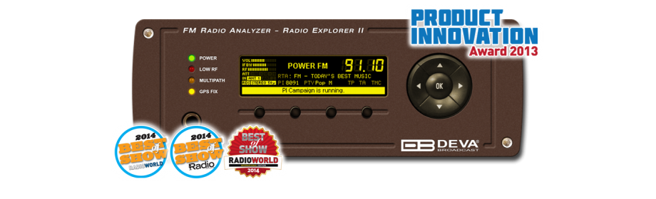DEVA Broadcast - Products - FM Radio Monitoring - Radio Explorer II